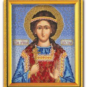 Набор икона из ювелирного бисера Св. Кристина