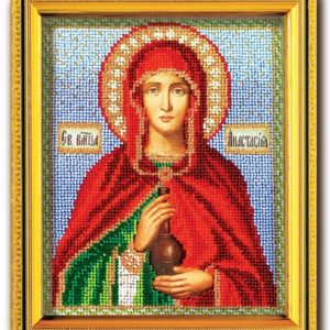 Набор икона из ювелирного бисера Св. В.М. Анастасия Узорешительница
