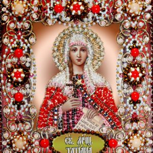 Образа в каменьях икона Святая Татьяна арт. 77-и-55