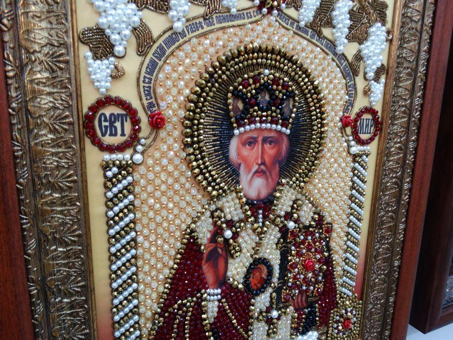 Хрустальные грани Образ Святого Николая Чудотворца арт. И-2а
