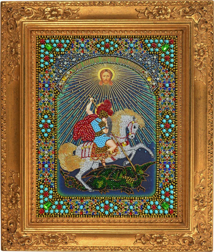 Хрустальные грани Чудо Святого Георгия Победоносца арт. И7